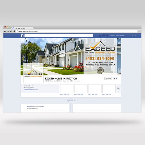 Exceed Home Inspection Facebook Cover