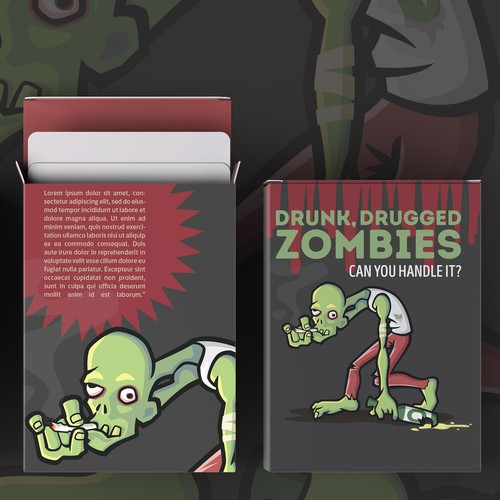 Drunk Zombies Illustration Design
