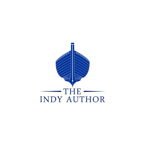 Create a boat-themed logo for The Indy Author