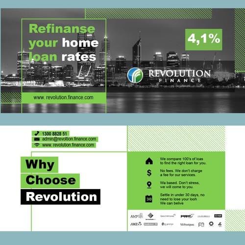 """Brochure design for """"Revolution finance"""""""