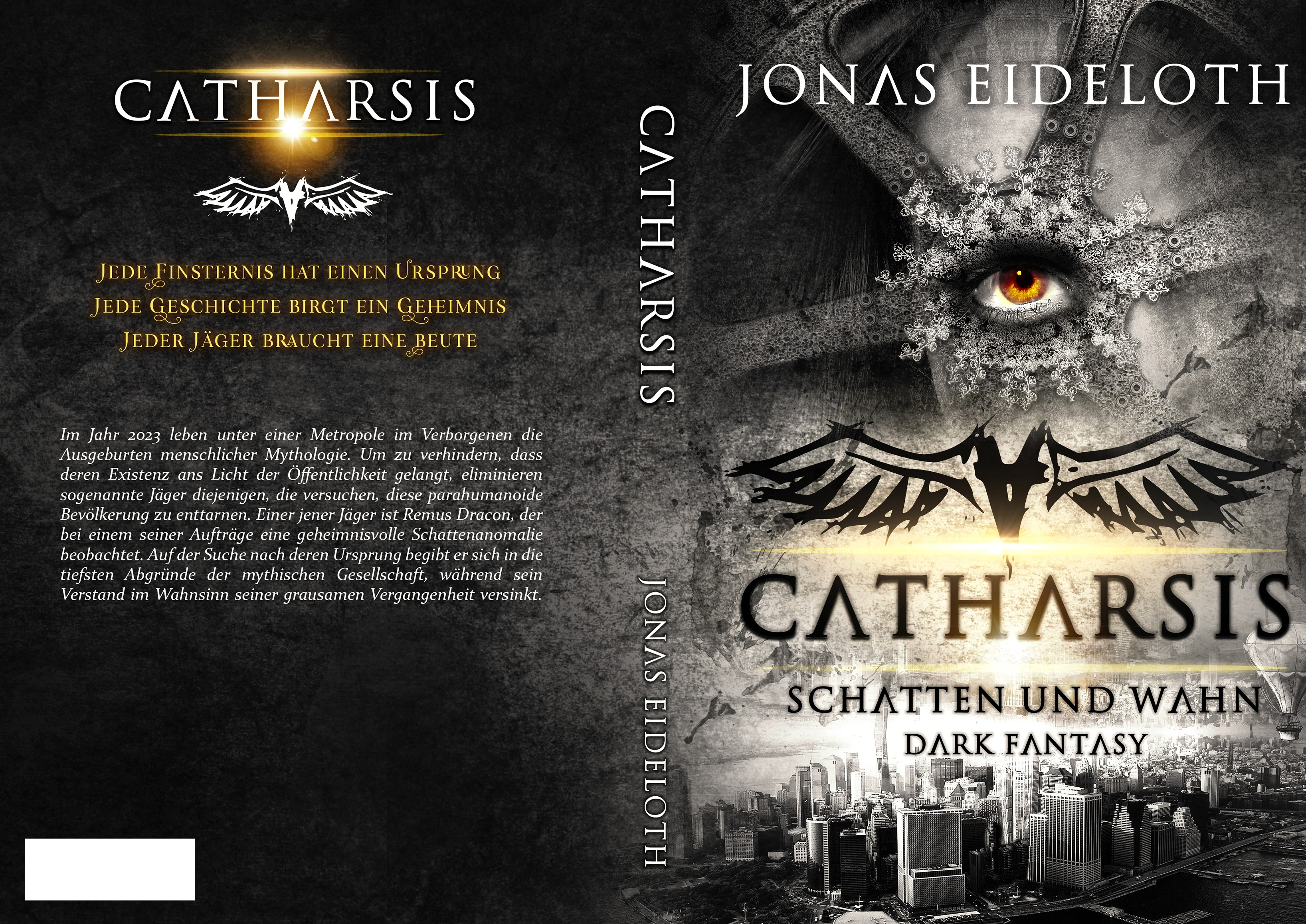Design a dark, yet elegant cover for a dark fantasy novel. Its the first book in a series