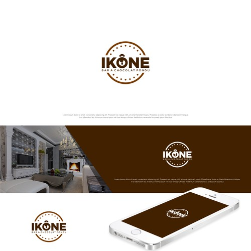 Simple logo for chocolate bar and fondu