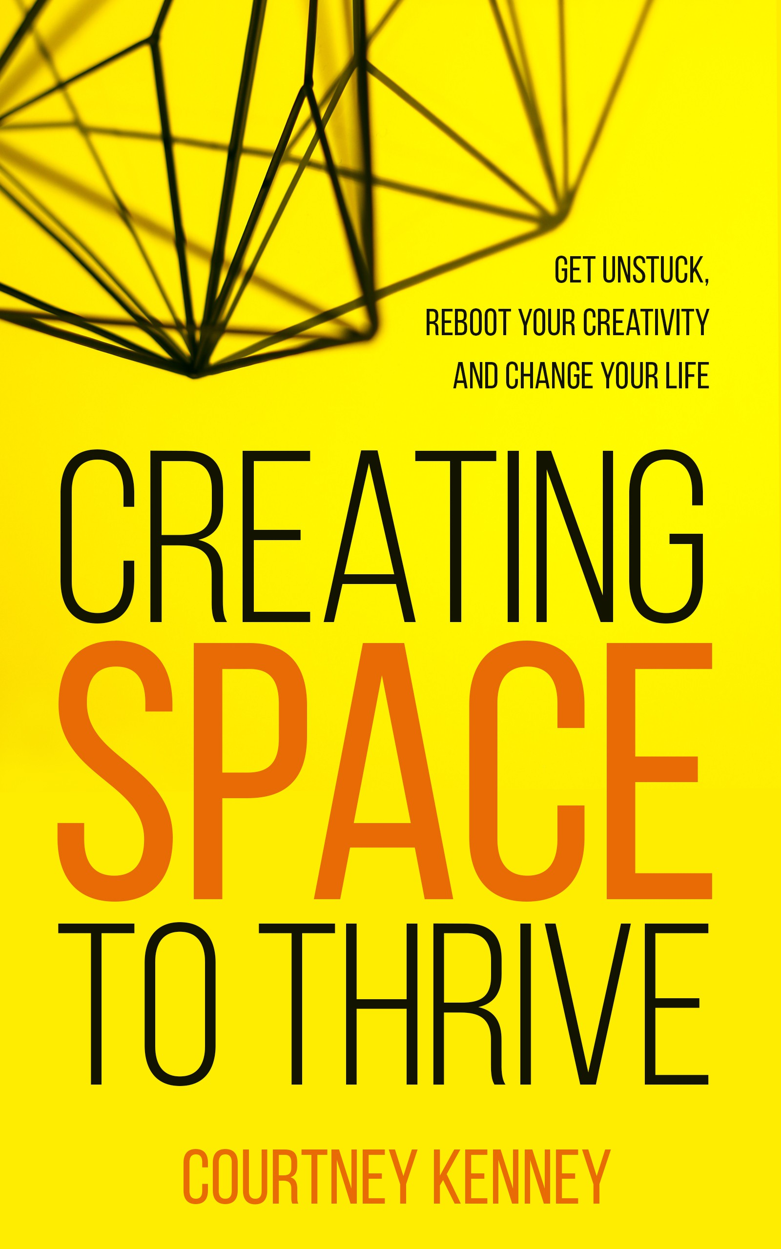 Design a cover for an exciting new book about rebooting your creativity