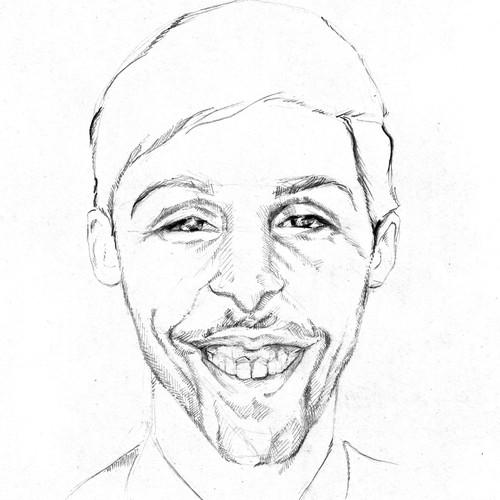 Create 12 digital portrait style line-drawings of Bit Zesty staff members