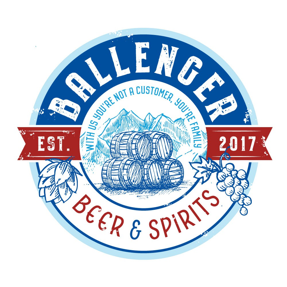 Ballenger Beer & Spirits is looking for elegant and rustic logo to make a new store stand alone