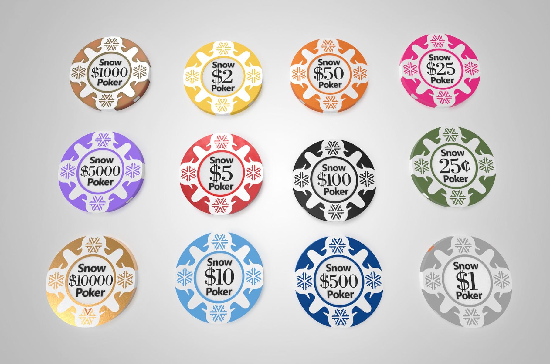 Create poker chip designs