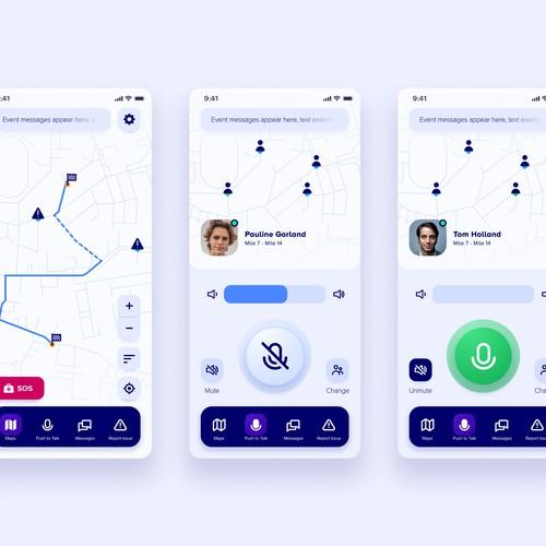 Event Falcon Mobile App Design