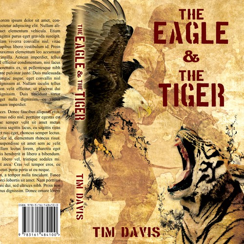 "Book Cover for ""The Eagle and The Tiger!"" Upcoming Vietnam Fiction Book"