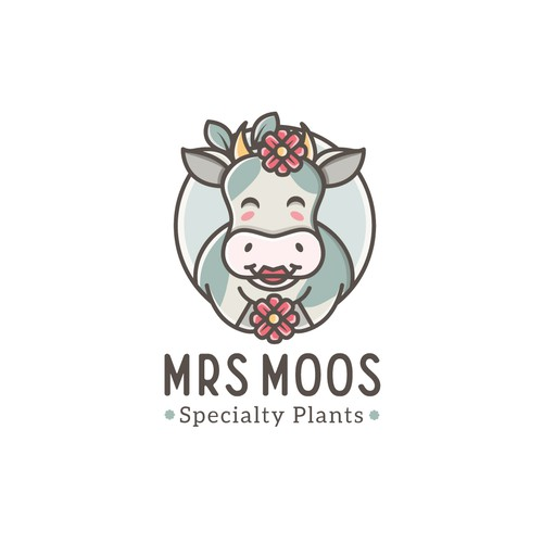 Playful and fun logo for a specialty plants & flowers business