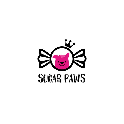 Cute pet spa/ pet shop logo