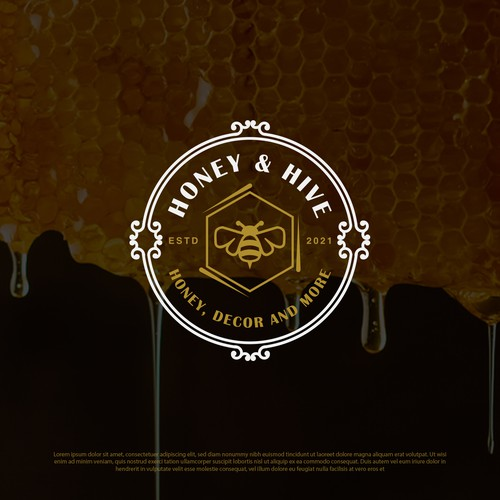 Logo for a honey manufacturing