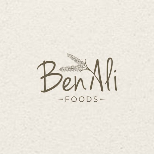 Ben Ali Foods logo design,Simple and elegant.