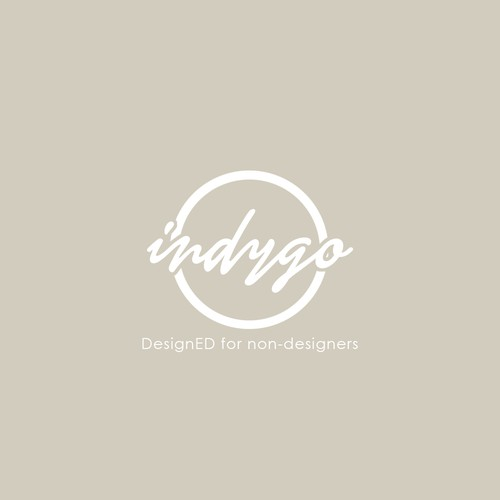 Modern and luxurious logo design for Indygo.