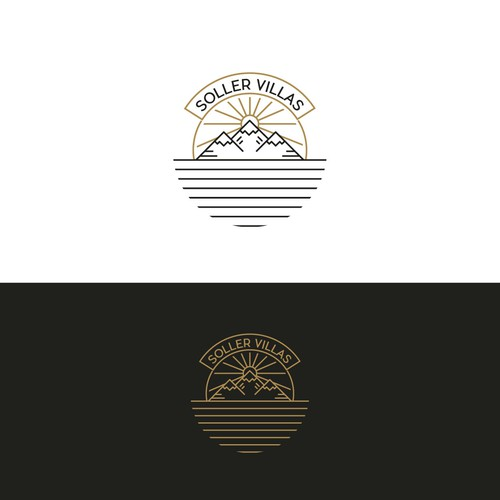 Elegant mountains logo