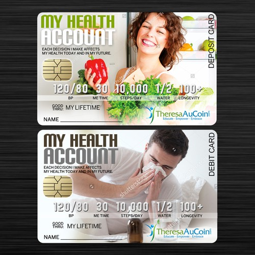 Deposit/Debit Card concept for Health Account