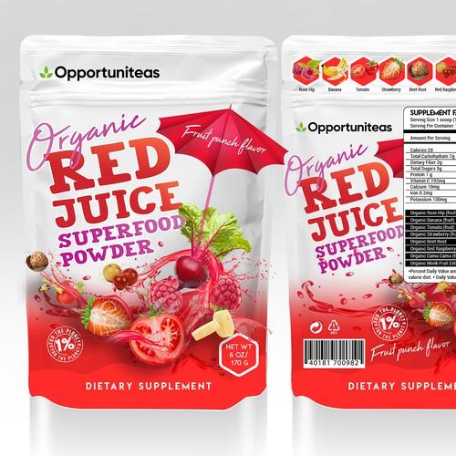 Organic red juice