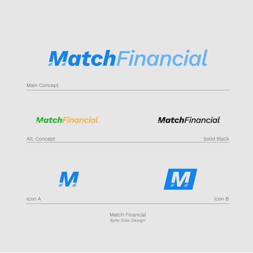Logo:: Match Financial (Blue/Blue)