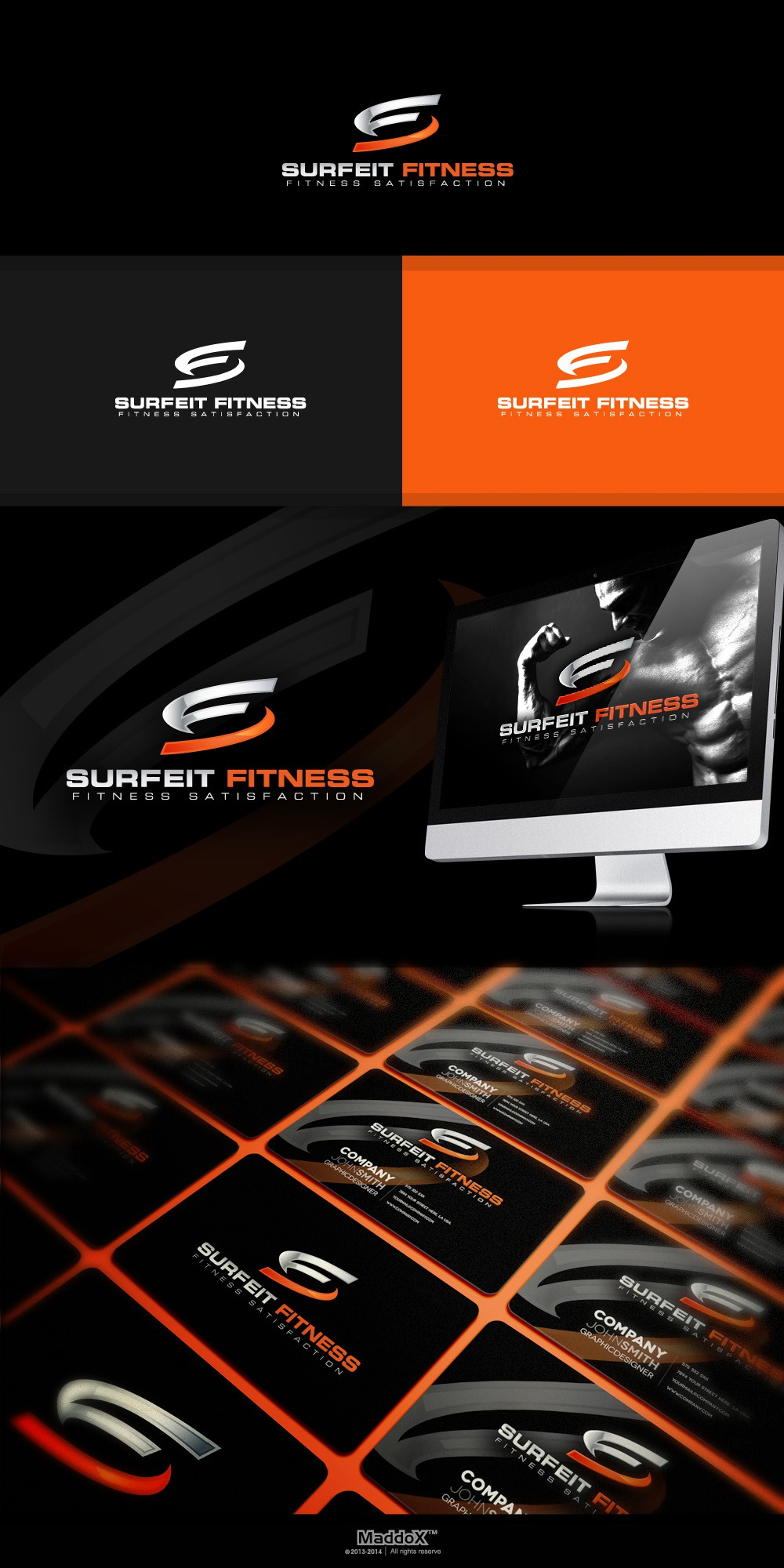 Fitness logo for upstart online fitness accessory store