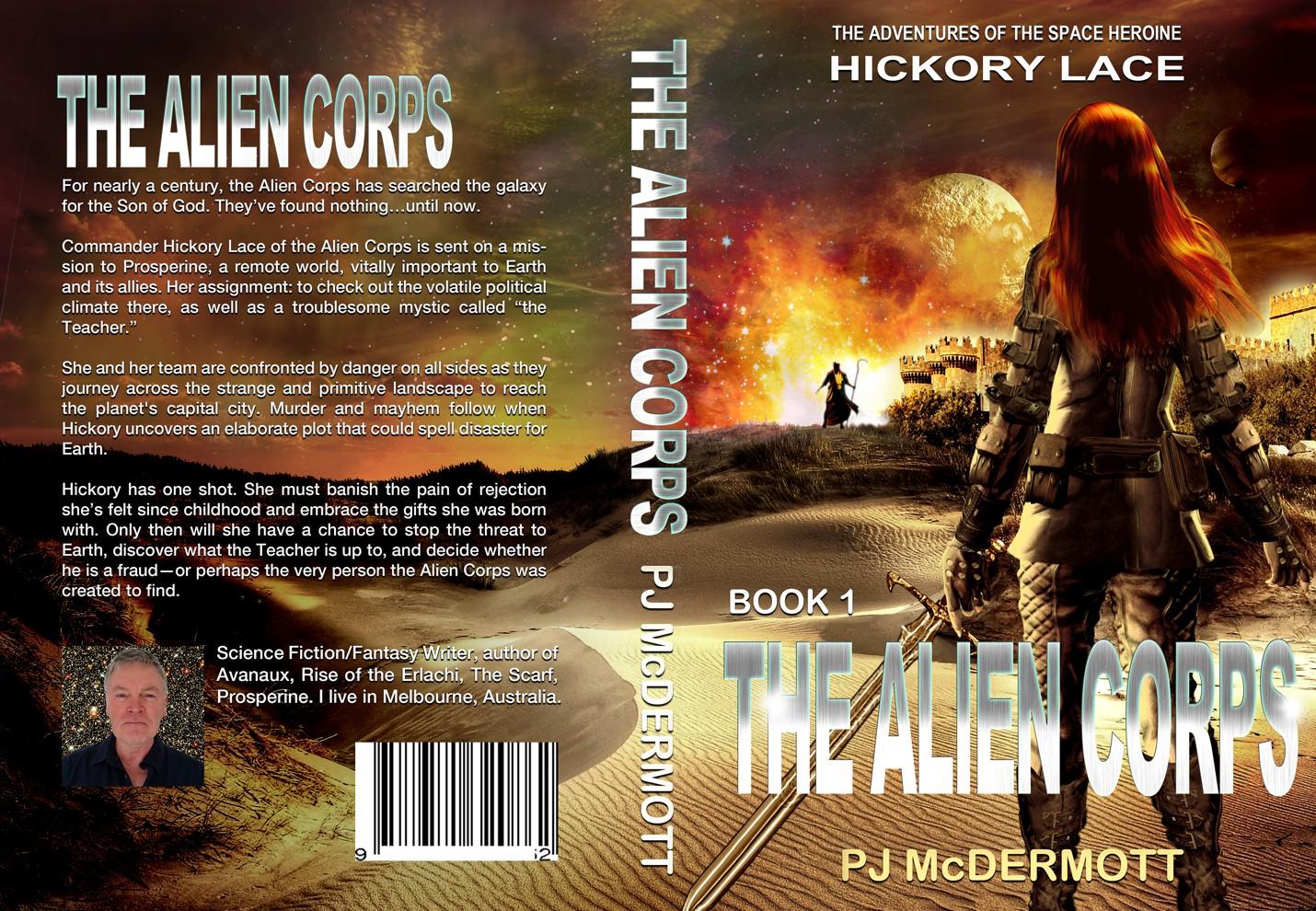 New cover design for unique scifi story