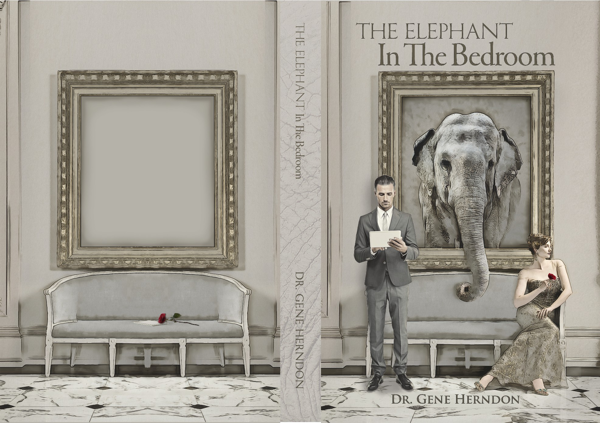 Book Cover Design for The Elephant in the Bedroon