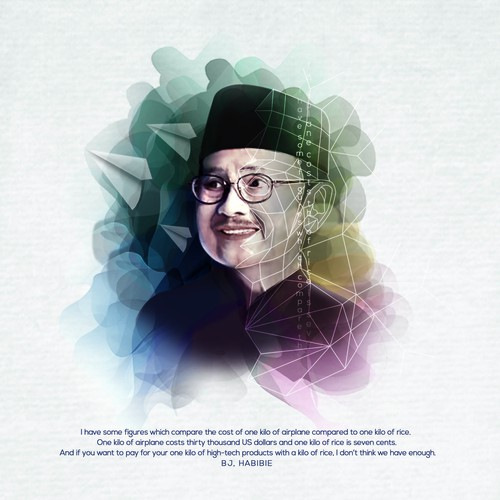 illustration of Mr. Habibie