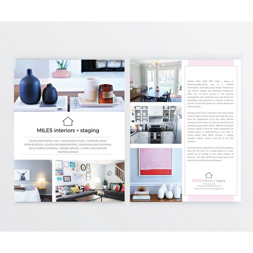 clean, modern takeaway for MILES interiors + staging