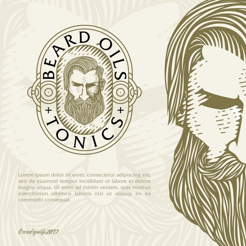 Logo for beard oil product