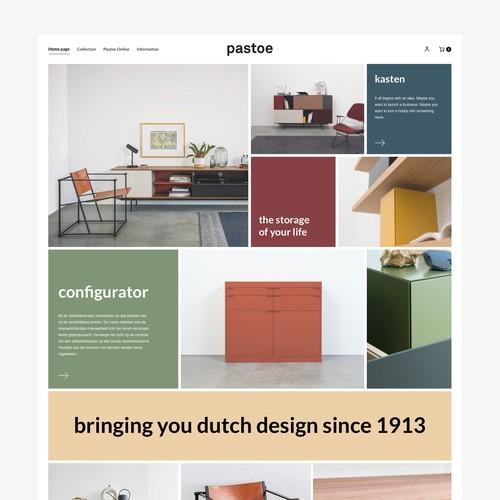 Pastoe webdesign. Squarespace website