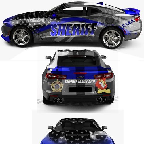 Camaro wrap for Sheriff Jason Ard