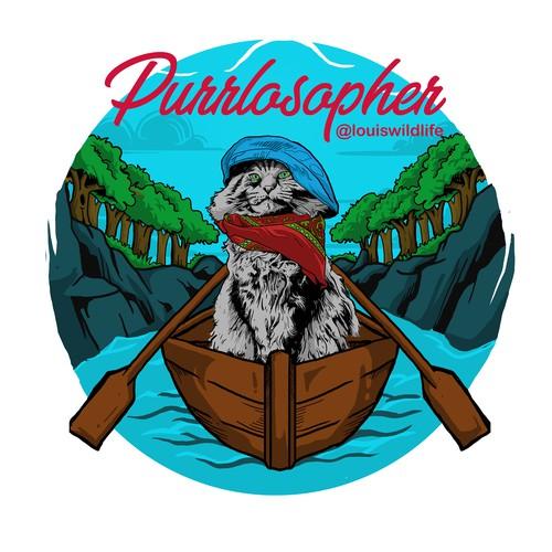 Purrlosopher Cat