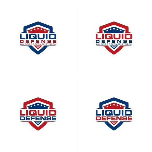 Bold Shield Logo concept for Liquid Defense