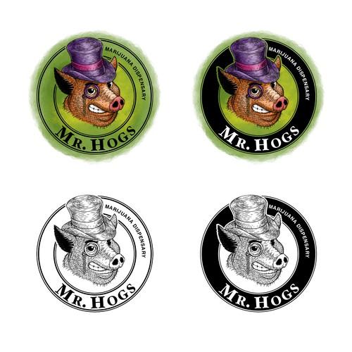 Mr. Hogs logo design.