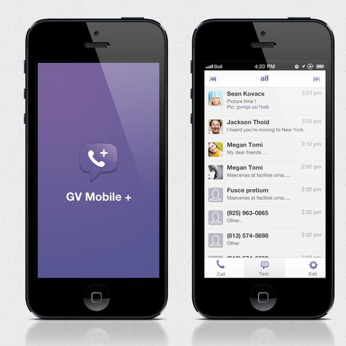 UI design for GV mobile +
