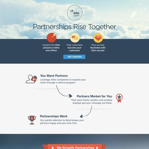 Create an awesome homepage for WhoPath.com