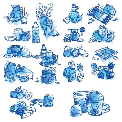 Vectors In Sketch Look