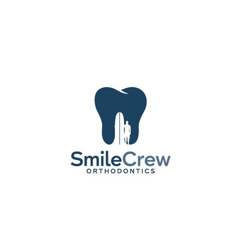 Coastal theme logo for dentist