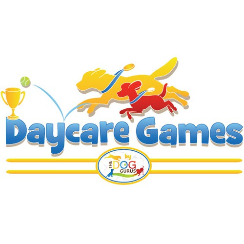 Daycare Games (for dogs) logo...like the Olympics...but for dogs. :)