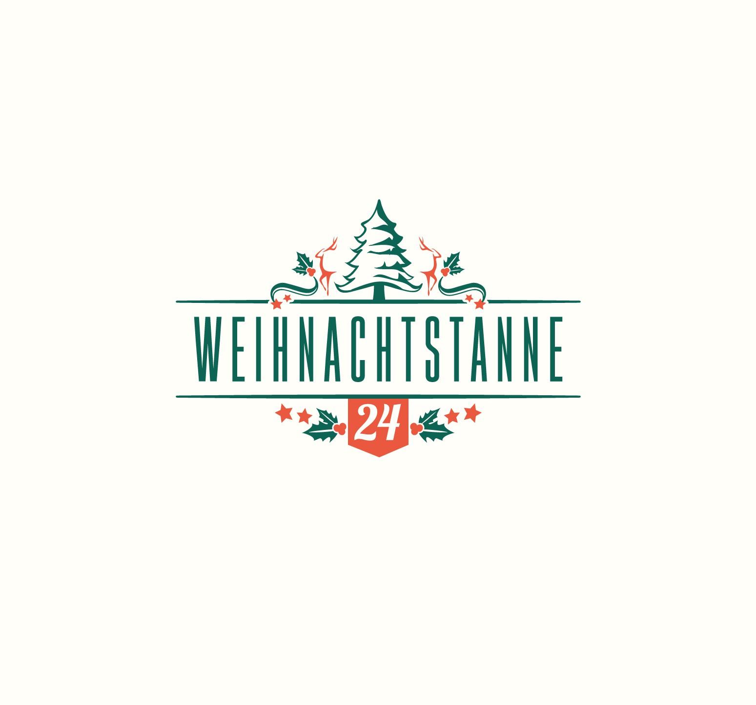 Erstellung eines Vintage Logos für einen Weihnachtsbaum Online Shop