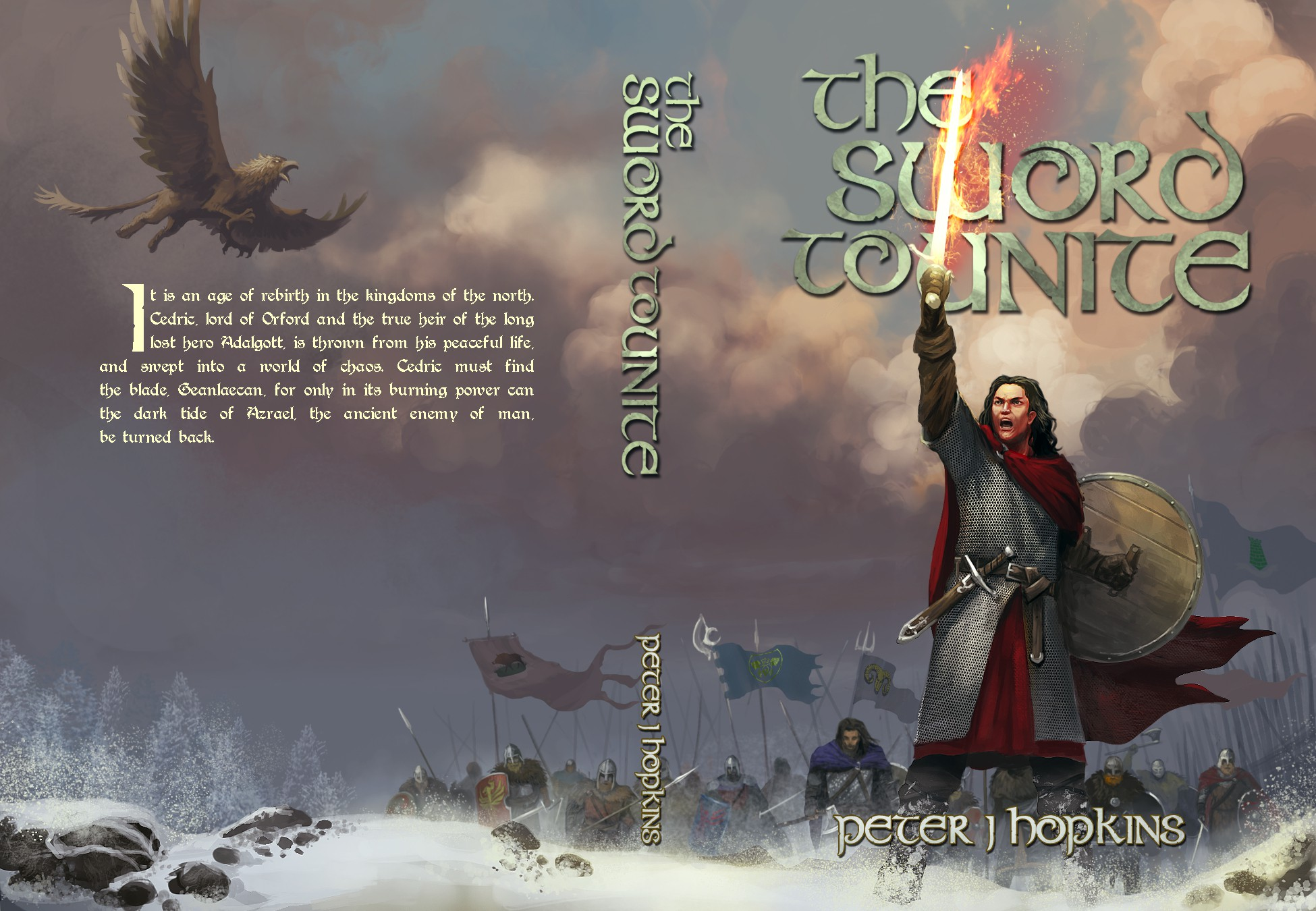 A Race for the Sword! Design a cover for a classical fantasy epic!