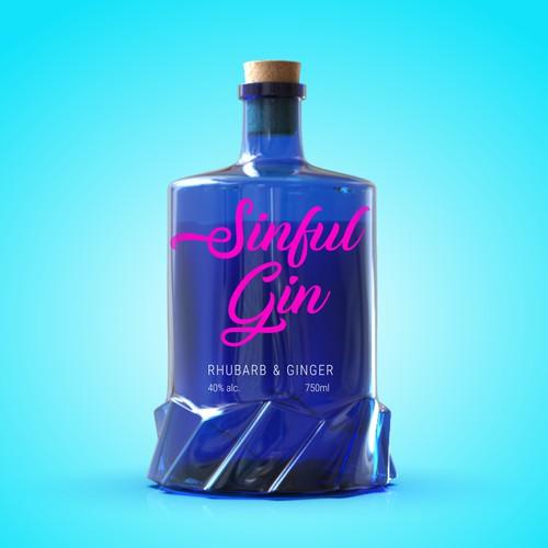 Gin bottle design