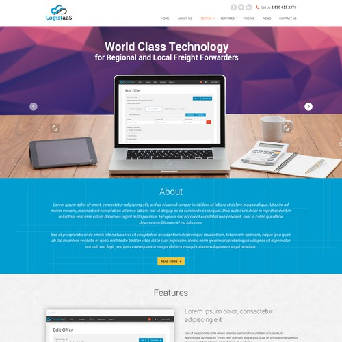 New web page design