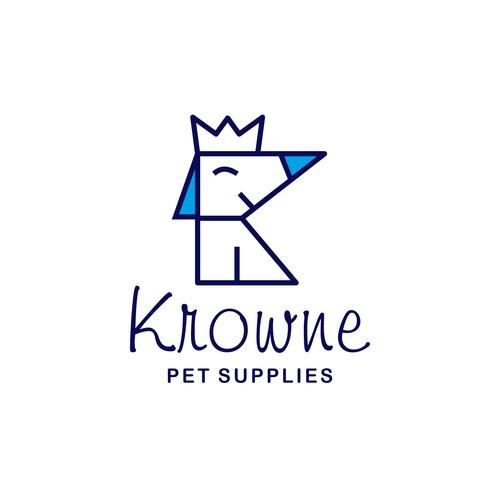 Fun logo of Krowne pet supplies