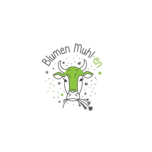 Logo für Blumen Muh!-en