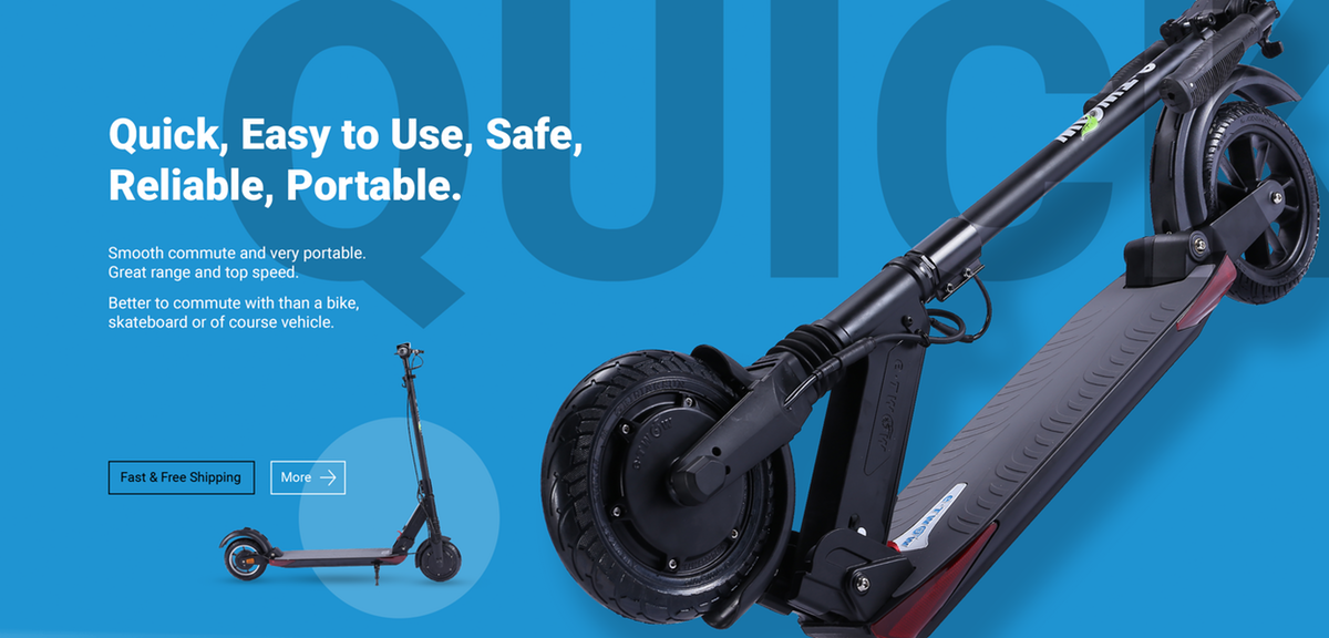 Electric Scooter Lifestyle Banner Photos
