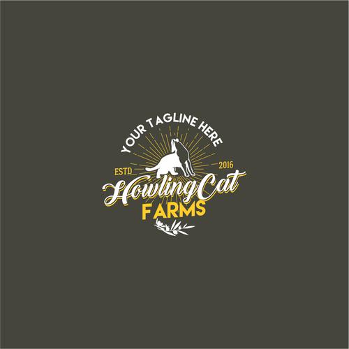 Retro logo for an organic oil farm