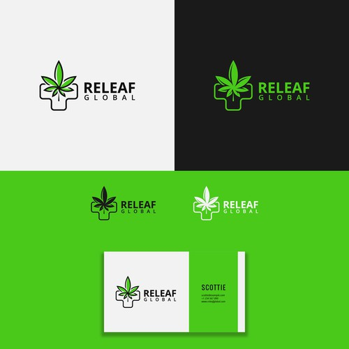 Clean logo design for Releaf Global
