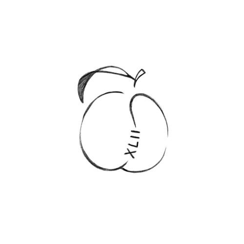 Small Peach Tattoo