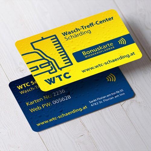 Bonus card for a car washing centre