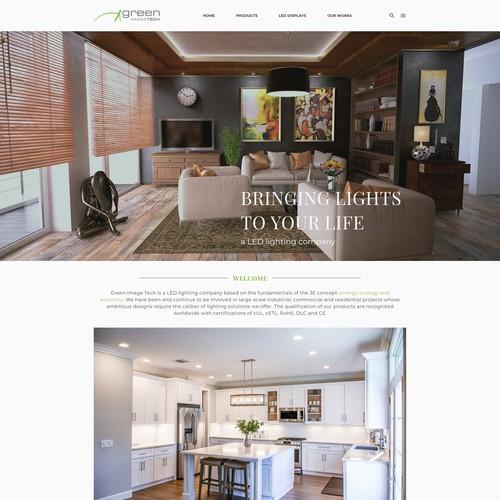 Designing for lighting company