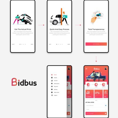 UI design app BidBus